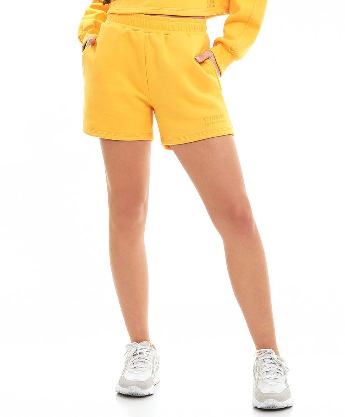 Shorts-M3cbs-Com-Bolso-Amarelo-Amber-AMARELO-AMBER-Frente