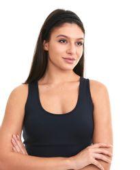 Tiara-confort-light-tranca-dupla-PRETO-Frente