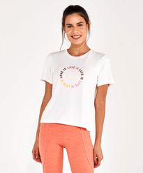 T-Shirt-Alto-Giro-Radiosa-Love-Is-OFF-WHITE-frente
