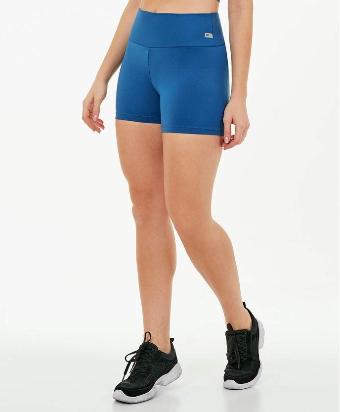 Shorts-Alto-Giro-Supplex-Termo-AZUL-INTENSE-frente
