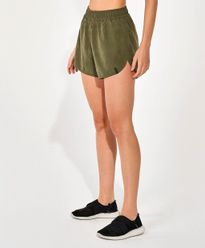 Shorts-Alto-Giro-Performing-Touch-Essential-VERDE-KALAMATA-frente