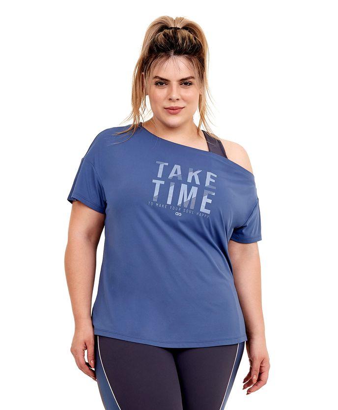 T-Shirt-Alto-Giro-Skin-Fit-Ombro-Caido-Plus-AZUL-MOONLIGHT-frente
